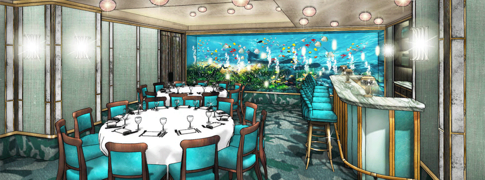 NEW Coral Reef Private Dining Room at Sexy Fish